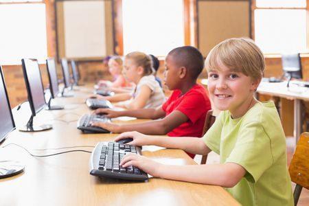 صورة , الطلاب , التكنولوجيا , التعليم