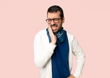 صورة , رجل , مريض , التهاب عصب الأسنان , آلام الأسنان
