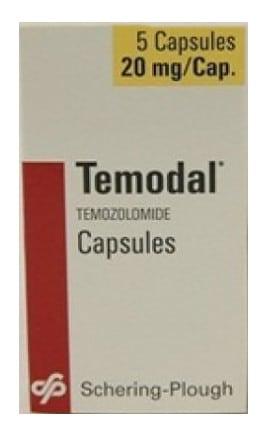 صورة , عبوة , دواء , كبسولات , لمرضى أورام سرطانية في المخ , تيمودال , Temodal