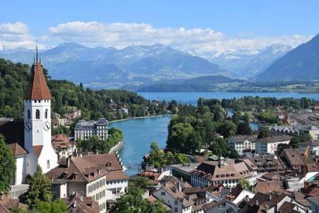 ثون ، سويسرا ، الألمانية ، قلعة ثون ، حديقة سكادو ، المدينة القديمة