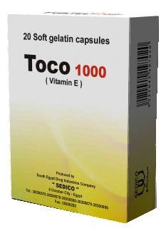 صورة , عبوة , دواء , كبسولات جيلاتينية رخوة , علاج نقص فيتامين هـ , توكو , Toco