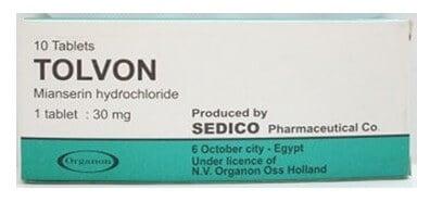 صورة , عبوة , دواء , علاج الإكتئاب , أقراص , تولفون , Tolvon