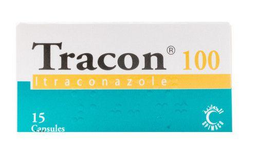 صورة , عبوة , دواء , لعلاج العدوى , تراكون , Tracon