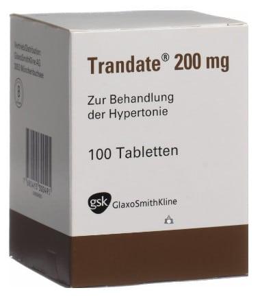 صورة , عبوة ,دواء , أقراص , لعلاج ضغط الدم العالي , تراندت , Trandate