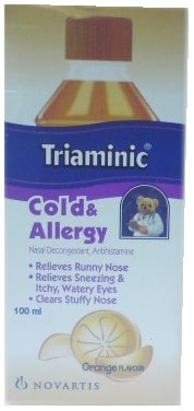 صورة, عبوة, تريامينك, Triaminic ,Cold , Allergy