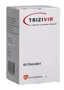صورة , عبوة , دواء , أقراص , لعلاج فيروس الفشل المناعي البشري , تريزيفير , Trizivir