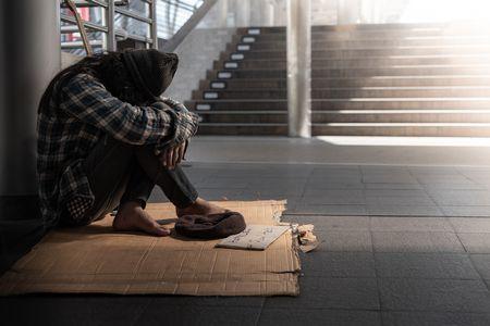 صورة , رجل , الفقر , البطالة