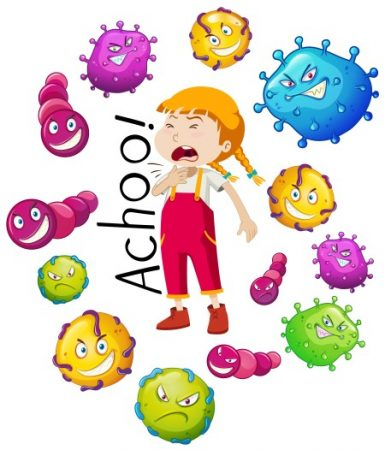 الفيروسات ، البكتيريا ، الفم ، اليد ، القدمين