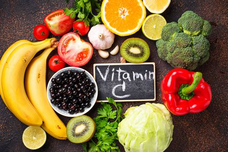 صورة , فاكهة , خضروات , فيتامين C