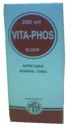 صورة , عبوة , دواء , شراب , فيتافوس إكسير , متعدد الفيتامينات , Vitaphos Elixir