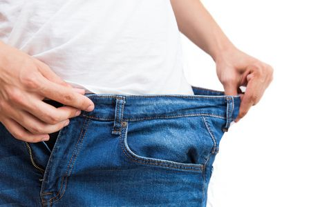 صورة , رجل , إنقاص الوزن , الحمية الغذائية