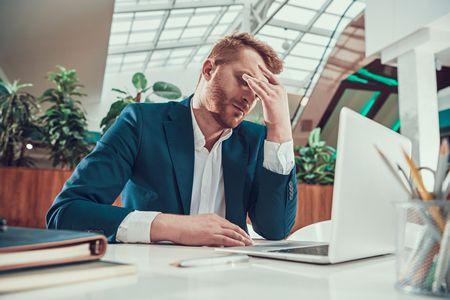 صورة , رجل , ضغوطات العمل