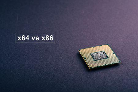 أنظمة المعالجة , x64 vs x86