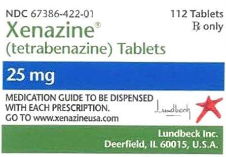 صورة,دواء,علاج, عبوة, كسينازين , Xenazine