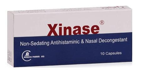 صورة , عبوة , دواء , كبسولات , مزيل لإحتقان الأنف , زاينيز , Xinase