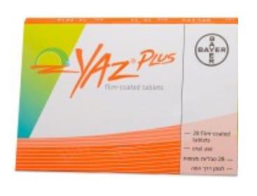 صورة , عبوة , دواء , أقراص مطلية , لمنع الحمل , ياز بلس , Yaz Plus