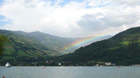 زيلامسي ، النمسا ، فيينا ، منتزه إليزابيث ، شلالات كريمل ، بحيرة زيل