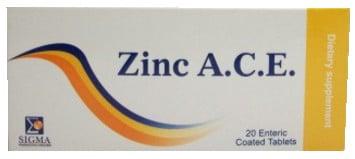 صورة, عبوة, أقراص ,زنك إيه سي اي, Zinc A.C.E
