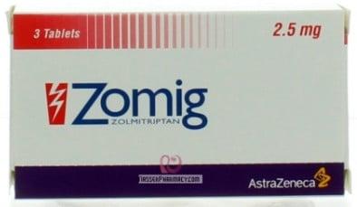 صورة,دواء, عبوة, زوميج ,Zomig