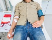 صورة , رجل , مريض , التبرع بالدم , مرض فقر الدم , الأنيميا
