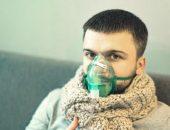 صورة رجل مريض , نوبات الربو