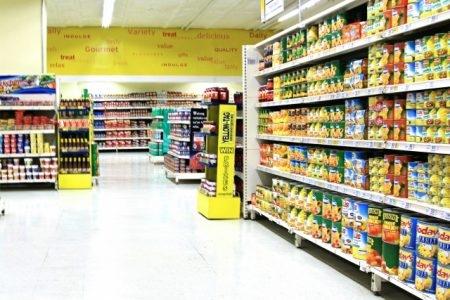 صورة , سوبر ماركت ، معلبات , الأغذية المعلبة