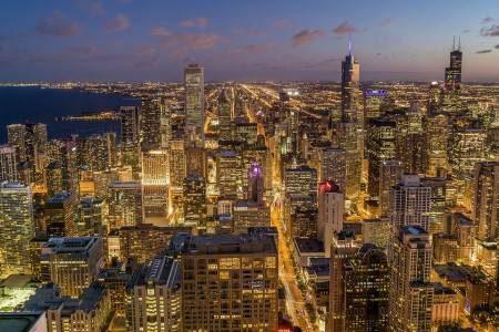 شيكاغو ، أمريكا ، ولاية إلينوي ، ميلينيوم بارك ، نيفي بير ، ذا لأنغام ، مطعم البوادي