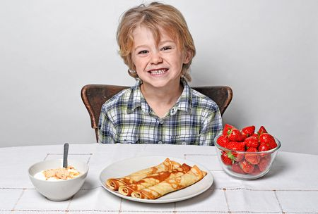 صورة , طفل , آداب المائدة , تناول الطعام
