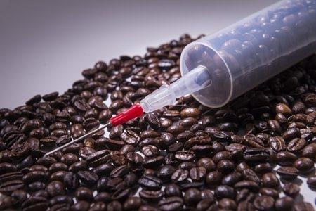 المنبهات , قهوة , صورة , حقنة