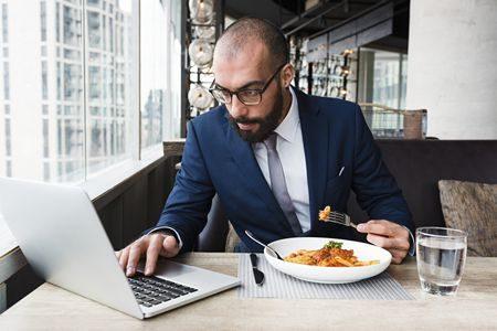 صورة , موظف , العمل , الغذاء الصحي