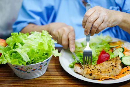 صورة , غذاء , كبار السن , تقدم السن