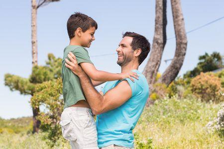 صورة , الأبناء , الآباء , طفل , رجل