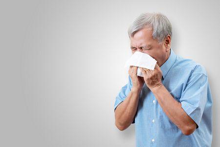 صورة , رجل , نزلات البرد , الأنفلونزا