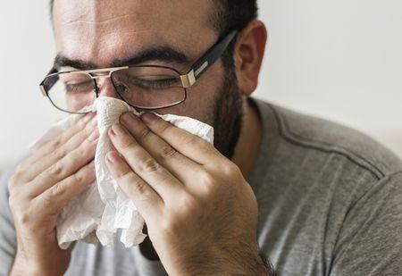 صورة , رجل , مريض , الأنفلونزا , الأمراض الموسمية
