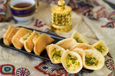 صورة , طعام , حلويات , قطايف , شهر رمضان