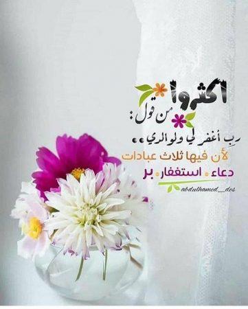 حالات واتس دينية عن رمضان ، أكثروا من قول: رب افر لي ولوالديّ.. لأن فيها ثلاث عبادات: دعاء، استغفار، بر