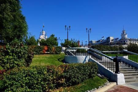 خاباروفسك ، روسيا ، الصين ، الحدائق ، كاتدرائية التجلي ، المشتل ، حديقة دينامو
