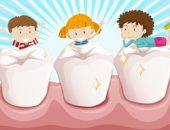 الأسنان ، أسنان الأطفال ، اللثة ، تنظيف الأسنان