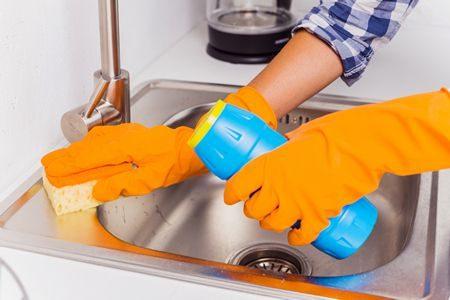 صورة , حوض المطبخ , التنظيف