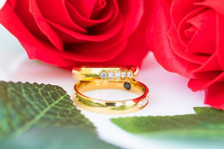 صورة , الزواج , الزوجين , ورد