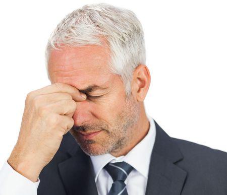 صورة , الصداع , رجل , التهاب الجيوب الأنفية