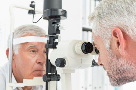 صورة , طبيب , رجل , فحص العيون