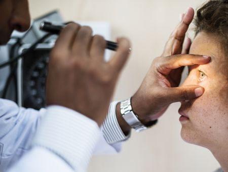 صورة , طبيب , طب العيون , الكسل البصري