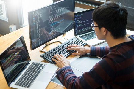 صورة , رجل , لغة البرمجة , البرمجة