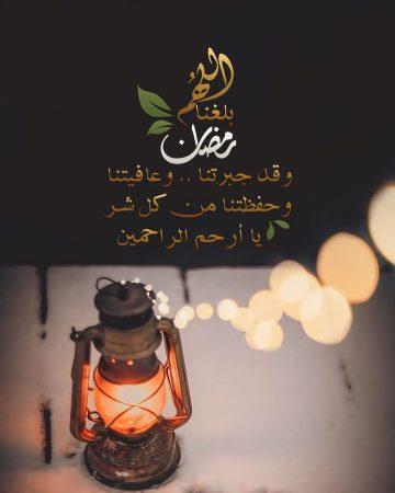 اللهم بلغنا رمضان وقد جبرتنا وعافيتنا وحفظتنا من كل شر يا أرحم الراحمين