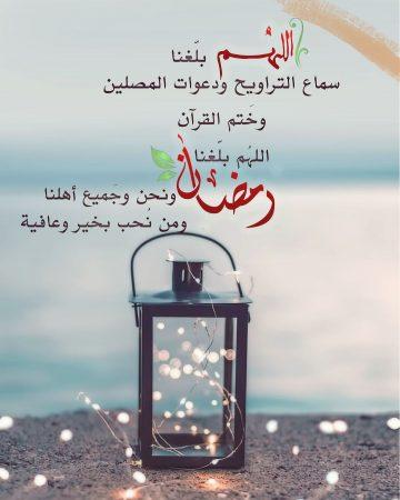 اللهم يارب بلغنا سماع التراويح ودعوات المصلين وختم القرآن، اللهم بلغنا رمضان ونحن وجميع أهلنا ومن نحب بخير وعافية