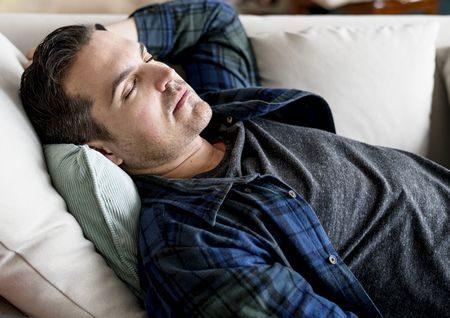 صورة , رجل , نائم , النوم , القيلولة