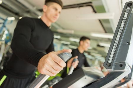 صورة , رجل , ممارسة الرياضة , المشاية الكهربائية
