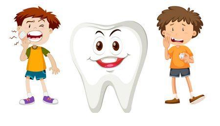 صورة , أسنان الطفل , ألم الأسنان