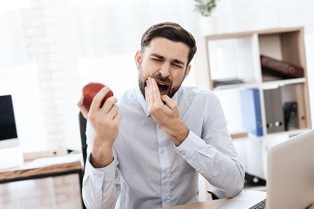 صورة , رجل , آلام الأسنان